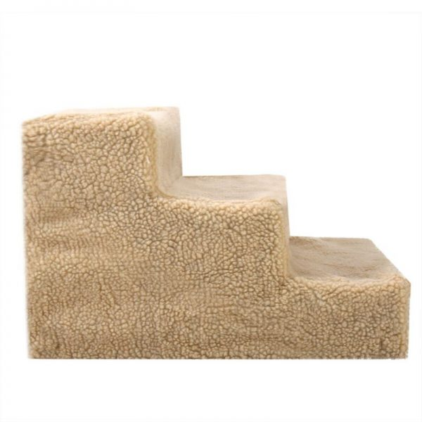 Plush Mini Staircase (Beige) - The Dog Ramp Co.