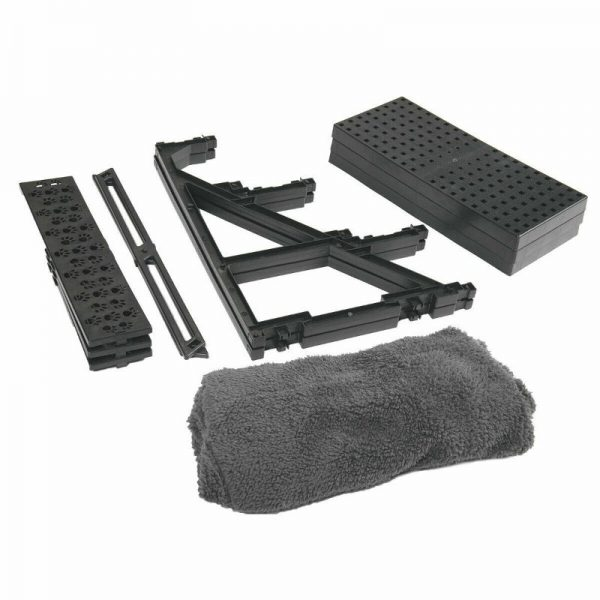 Plush Mini Staircase (Charcoal Grey) - The Dog Ramp Co.