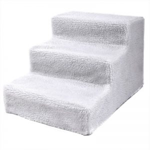Plush Mini Staircase (White) - The Dog Ramp Co.