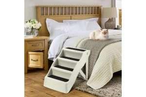 Portable 4 Step Dog Ladder - Beige - The Dog Ramp Co. Australia