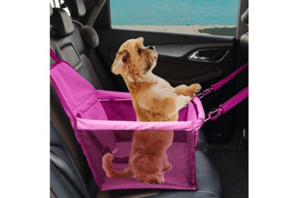 PaWz Dog Booster Seat Car Carrier - Pink - The Dog Ramp Co. Australia