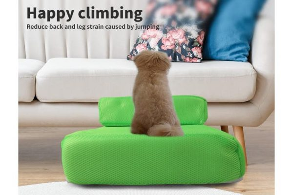 PaWz Pet Stairs Steps Ramp Portable Foldable Climbing Staircase Soft Dog Green - The Dog Ramp Co. AustraliaPaWz Portable Soft Dog Steps - Blue - The Dog Ramp Co. Australia